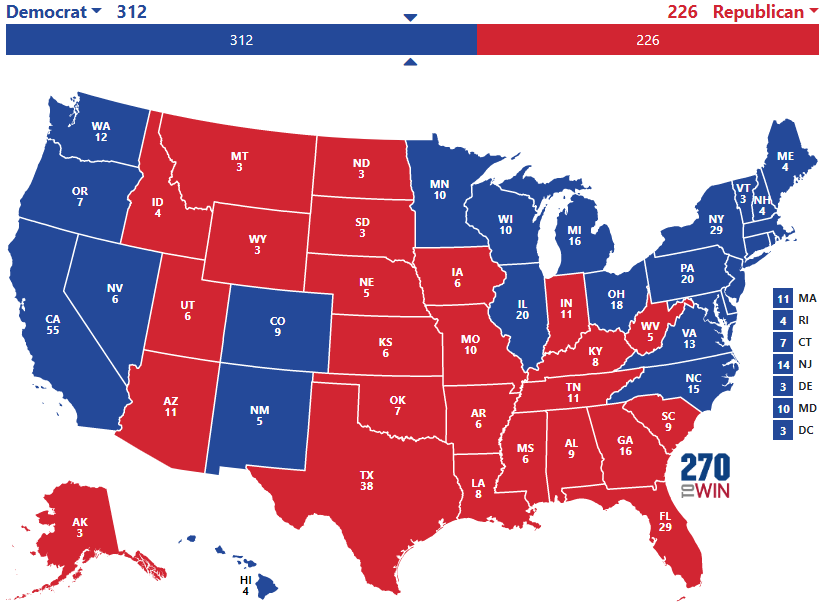 electoral map prediction 2020